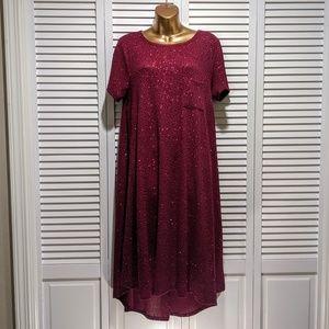 Burgundy Lularoe Elegant Carly dress